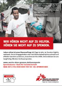 Ärzte ohne Grenzen, Spenden, Hilfsorganistion, Hilfe, Nothilfe, Ebola, Engagement