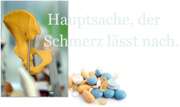 Hüftgelenk, Arthrose, OP, Schmerzen, Schmerztherapie, Anästhesie, Schmerzskala, Schmerzmanagement, Endo-Klinik, Prof. Gehrke, Medizin für Menschen, Reichelt